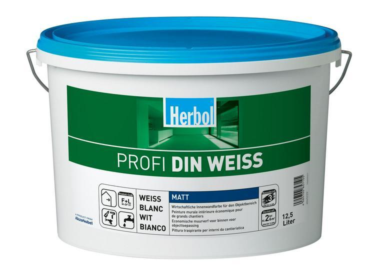 Herbol Profi DIN Weiss Wandfarbe Eimer ab 28,- Rabatt ab 3 Stk.