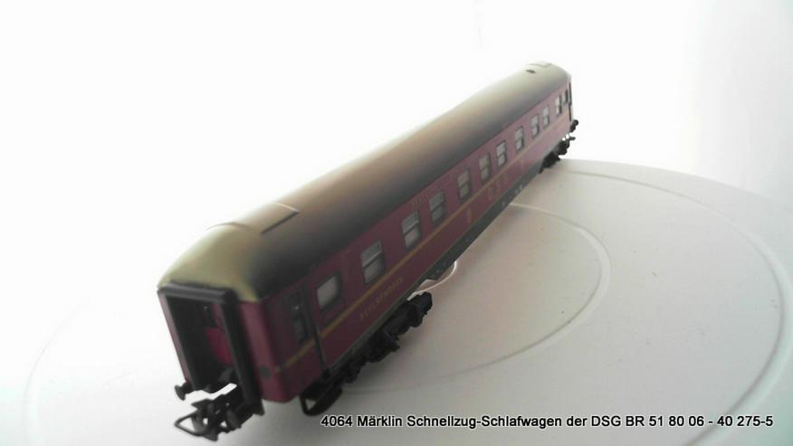 Bild 2: 4064 Märklin Schnellzug-Schlafwagen der DSG BR 51 80 06 - 40 275-5