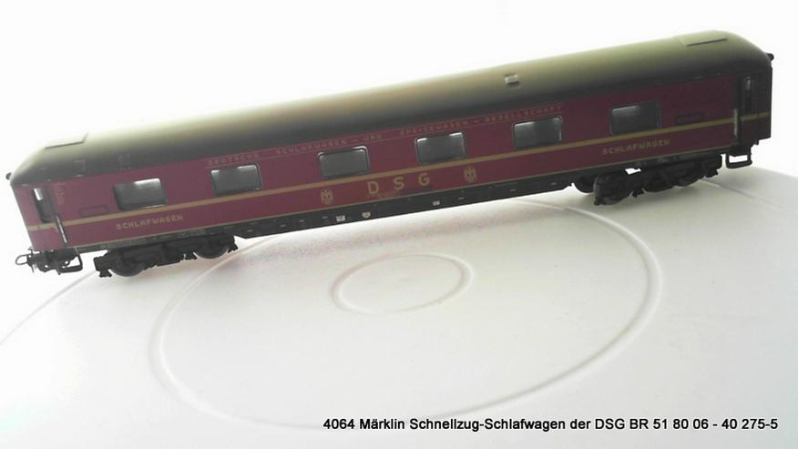4064 Märklin Schnellzug-Schlafwagen der DSG BR 51 80 06 - 40 275-5