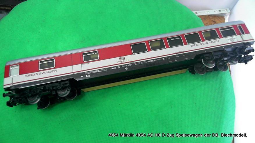4054 Märklin H0 Speisewagen (Blech) der DB rot – grau, mit Innenbeleuchtung