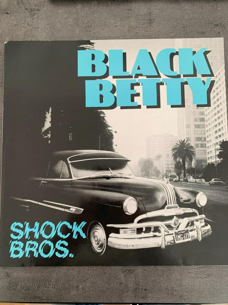 "Maxi Single SHOCK BROTHERS - Black Betty 1987 (Vinyl 12"")"