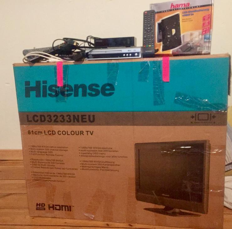 LCD-TV Hisense 3233 mit viel Zubehör