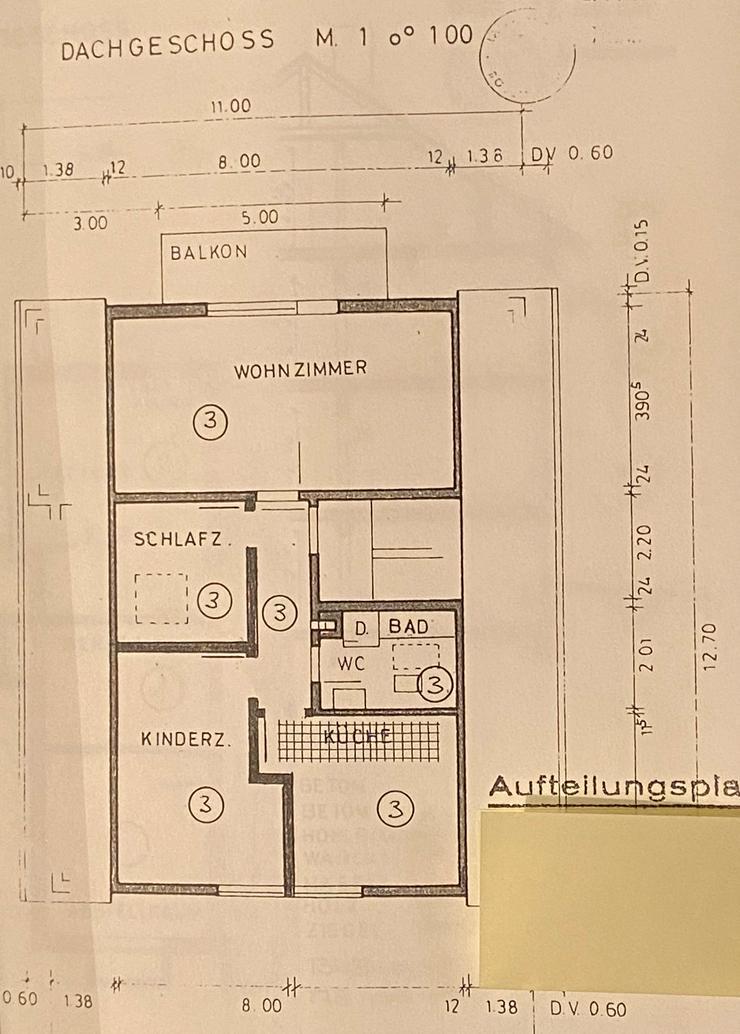 Ruhige 3-Zimmer DG Wohnung 2. Stock in 3-Familienhaus L-E Oberaichen