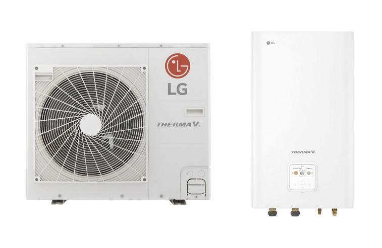 1A LG Therma V Set Split Luft-Wasser-Wärmepumpe R32, 7 kW
