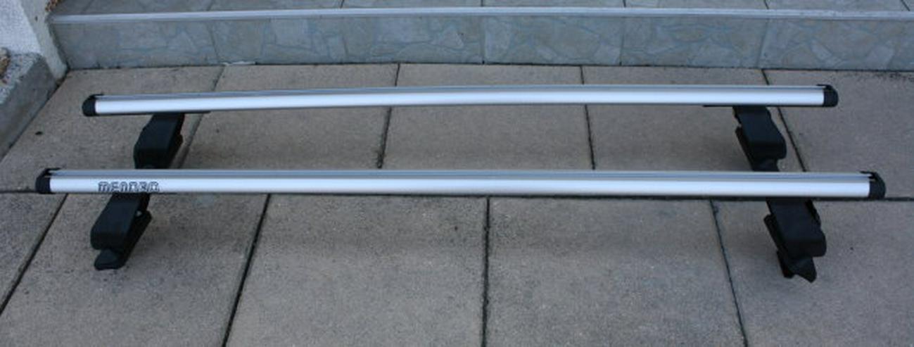 Menabo Tema Kia Rio UB Aluminium Dachträger Lastenträger Dachgepäckträger Querträger Fließheck Relingträger inkl. EBA - Dachträger & Dachboxen - Bild 1