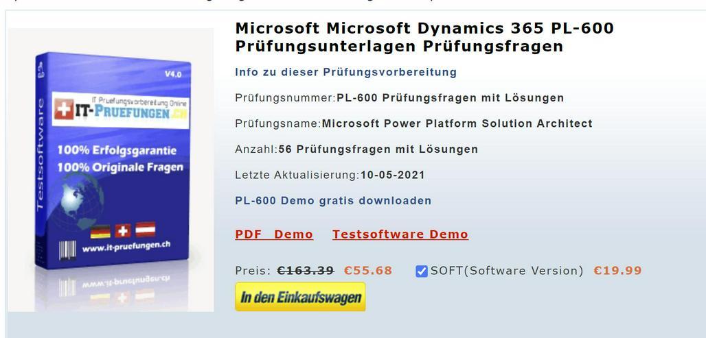 Prüfungsfragen und Antworten zu PL-600 Kurs deutsch