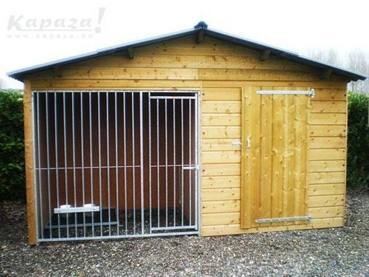 Hundehütte Basco mit Pavillon.