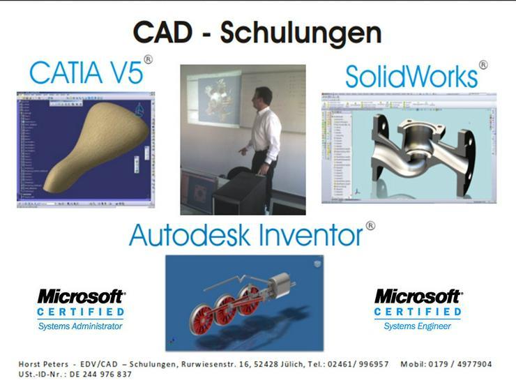 CAD Schulungen und Dienstleistungen (Autodesk Inventor, SolidWorks, CATIA V5,