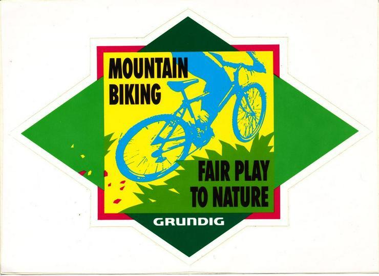 Grundig Werbe Sticker