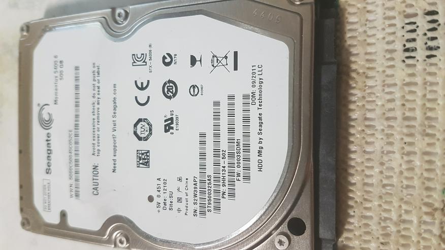 2,5 Zoll Samsung SATA Festplatte 500GB in einwandfreien Zustand  - Festplatten - Bild 1