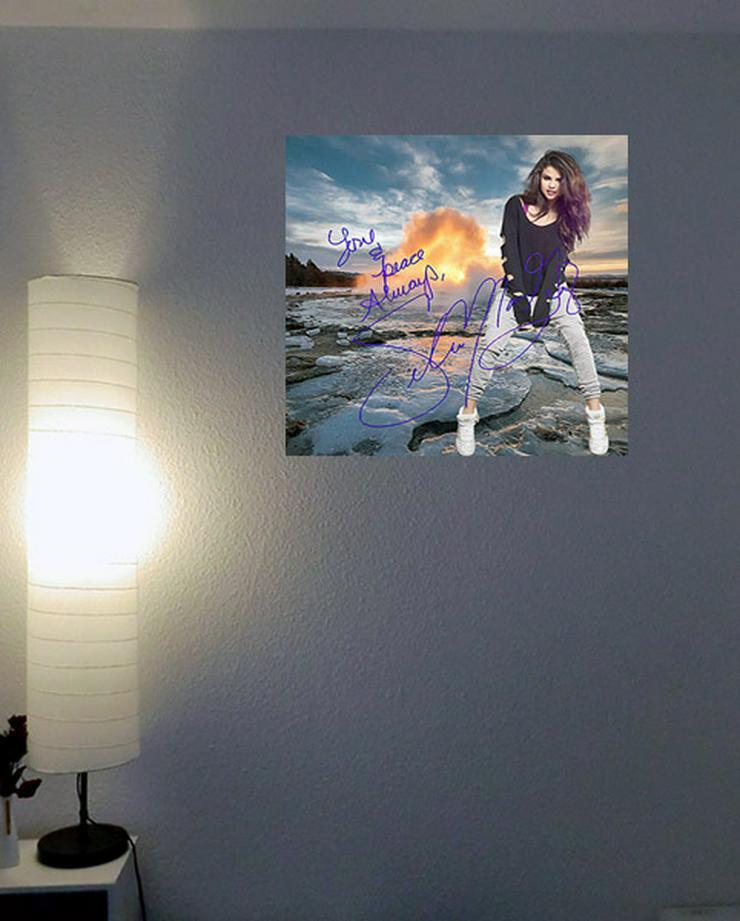 Bild 2:  Selena Gomez Star Souvenir. Geschenkidee. Blickfang! Zimmerdeko. Einmalig! Neuheit! Sammelobjekt.