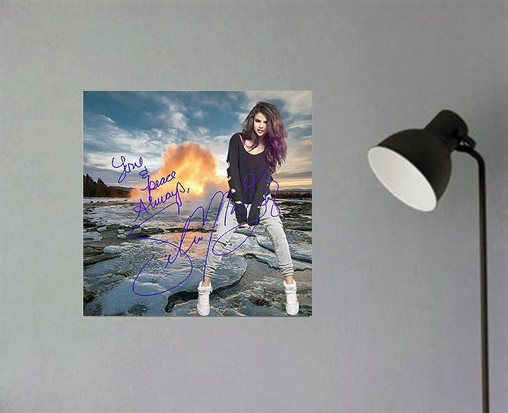 Selena Gomez Star Souvenir. Geschenkidee. Blickfang! Zimmerdeko. Einmalig! Neuheit! Sammelobjekt.   - Poster, Drucke & Fotos - Bild 1