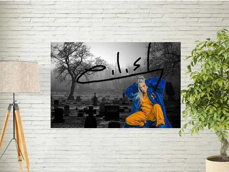 BILLIE EILISH. Star Souvenir. Super Deko. Geschenkidee.  Einmalig! Wandbild. Neuheit! Sammelobjekt. Zimmerdeko. Blickfang! - Poster, Drucke & Fotos - Bild 1