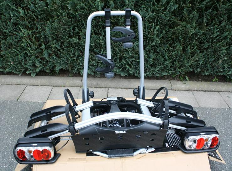 Thule EuroWay G2 920 Fahrradträger Anhängerkupplung Heckträger AHK abklappbar abschließbar für 2 Fahrräder Bikes