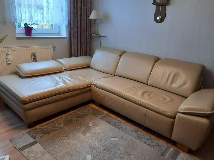 Lederschlafcouch