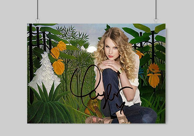 Taylor Swift Kunstdruck 45x30 cm. Souvenir. BRANDNEU!