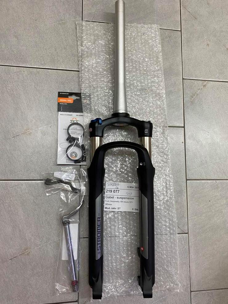 Bild 3: Neue Federgabel für Stromer ST2 und ST1 mit Zubehör schwarz oder weiss
