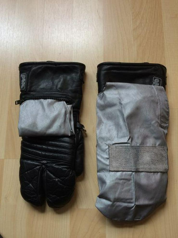 3-Finger Motorradhandschuhe Leder Gr. 7 oder 8, gebraucht