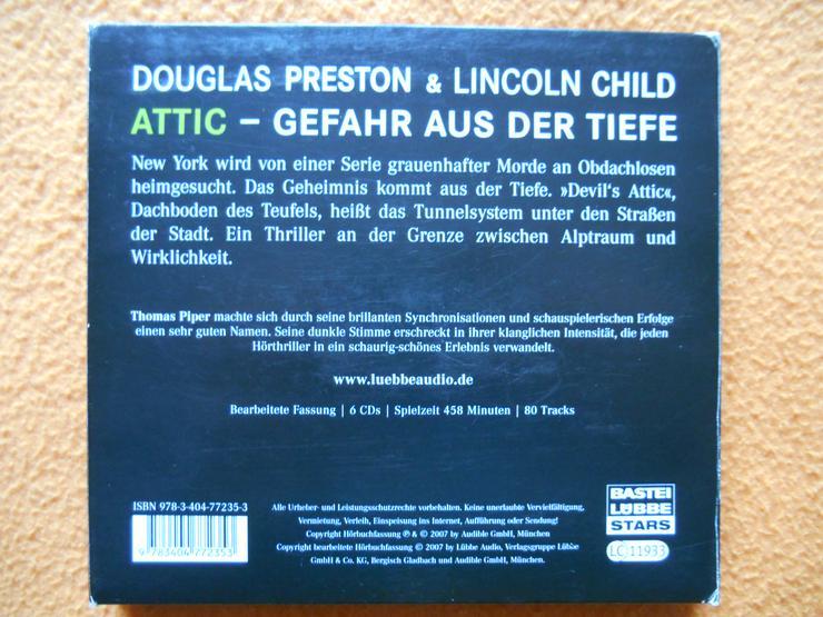 Bild 2: Hörbuch: ATTIC - Gefahr aus der Tiefe