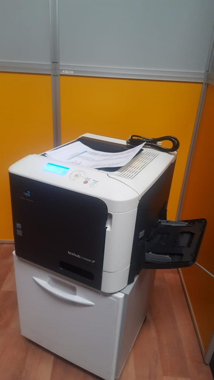 Drucker Konica Minolta Bizhub C3100P Farblaserdrucker mit Netzwerk/Duplex/USB Toner ist VOLL