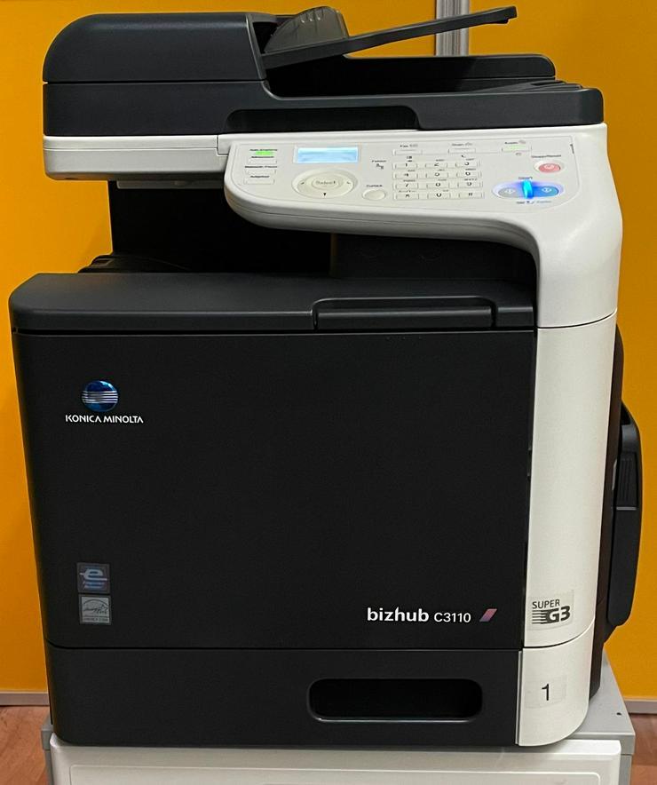 Drucker MFP Konica Minolta bizhub C3110 Multifunktionsdrucker Farbdrucker TOP, TONER VOLL