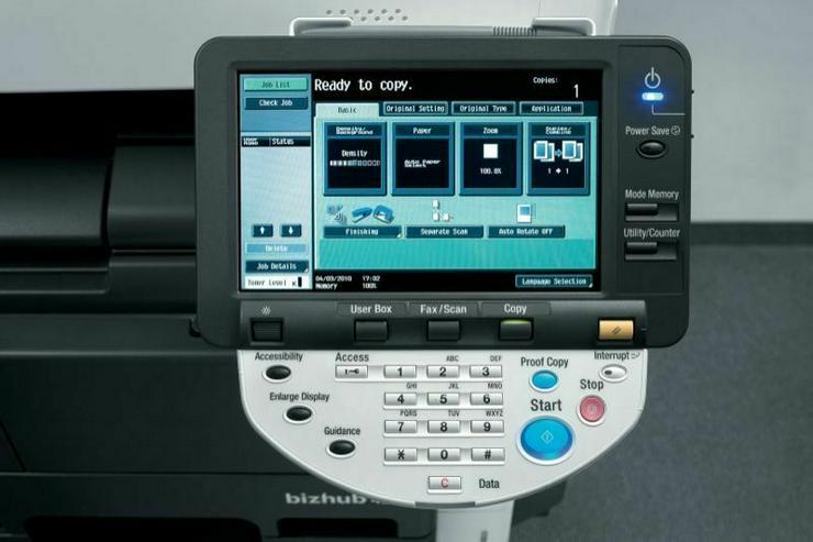 Kopierer /Drucker/Scanner/FAX/LAN  mit nur 1000 Kopien Konica Minolta bizhub 423 Kopierer Vorführgerät