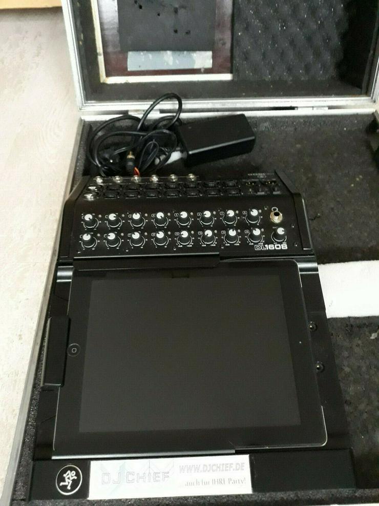 PA -  digitales Mischpult / Mixer Mackie DL1608  inkl. Zubehör