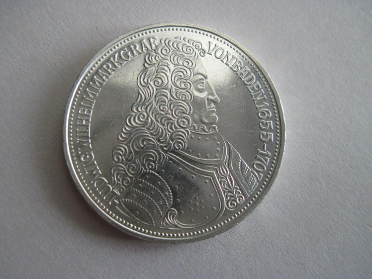 5 DM Münze MARKGRAF VON BADEN 1955 G Türkenlouis, Sondermünze