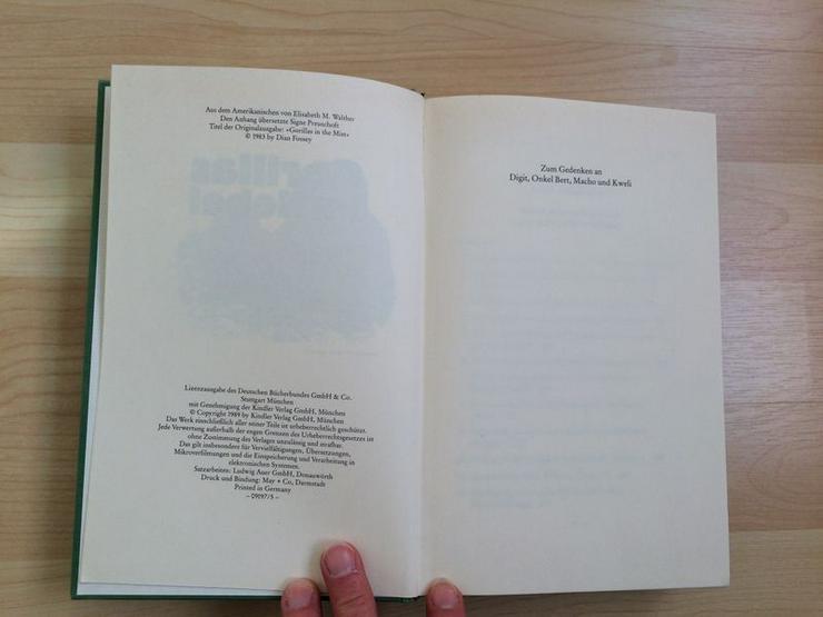 Buch Gorillas im Nebel v. Dian Fossey - Tiere - Bild 5