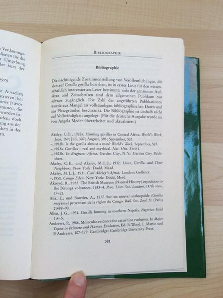Bild 11: Buch Gorillas im Nebel v. Dian Fossey