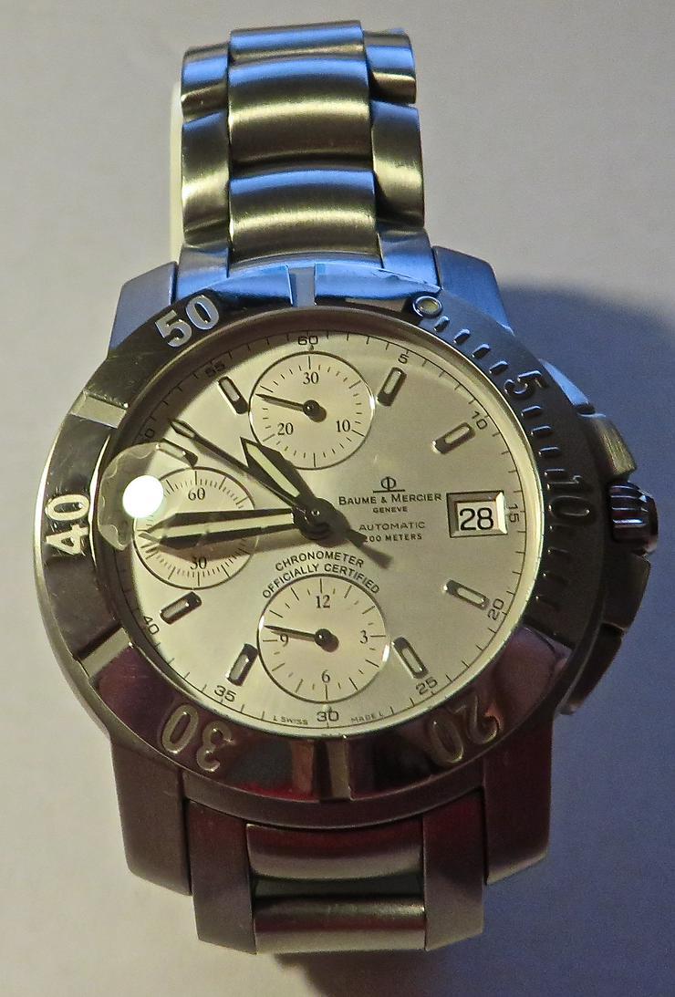 ORIGINAL AUTOMATIK BAUME MERCIER HERREN UHR IN EDELSTAHL - Herren Armbanduhren - Bild 1