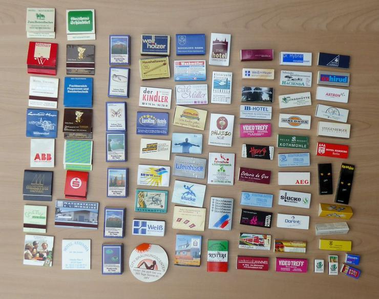 85 verschiedene Streichholzschachteln aus Deutschland zus
