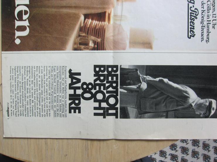 Bild 2: Bertolt Brecht 80 Jahre (ZeitMagazin Nr.6/3. Februar 1978