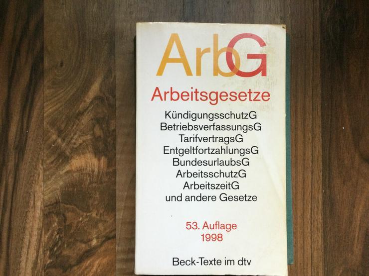 ARBEITSGETZBUCH - Finanzen, Wirtschaft & Recht - Bild 1