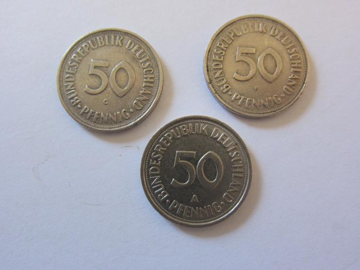Bild 2: 3 50 Pfennig - Münzen