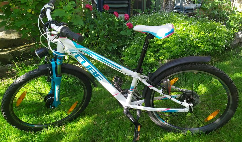 Mountainbike Cube Kid 240 Race Allroad blue/white - Mountainbikes & Trekkingräder - Bild 1