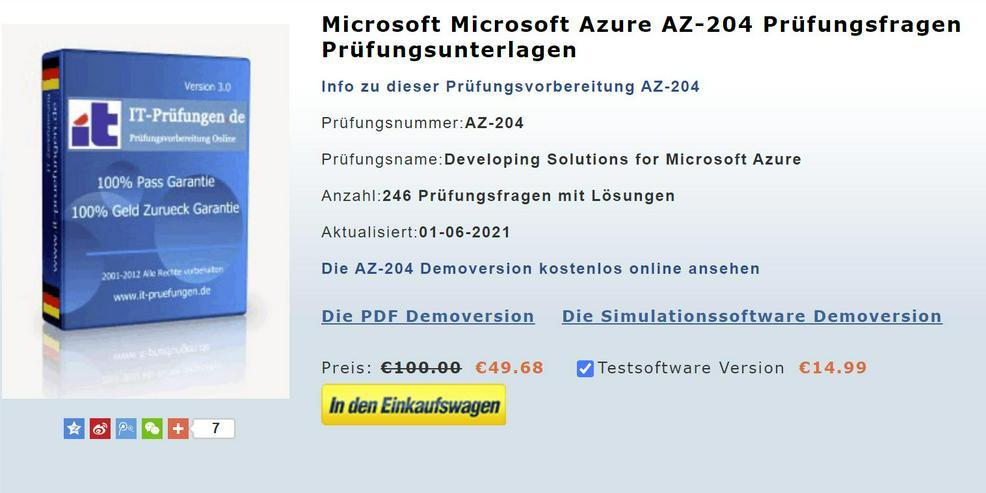 AZ-204 Prüfungsfragen, AZ-204 it-zertifizierung
