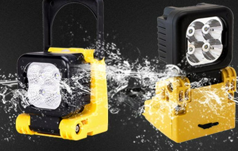Bild 6: Tragbarer Handscheinwerfer 12 W, Kabellos, Wiederaufladbar, Magnet € 75,- Festpreis