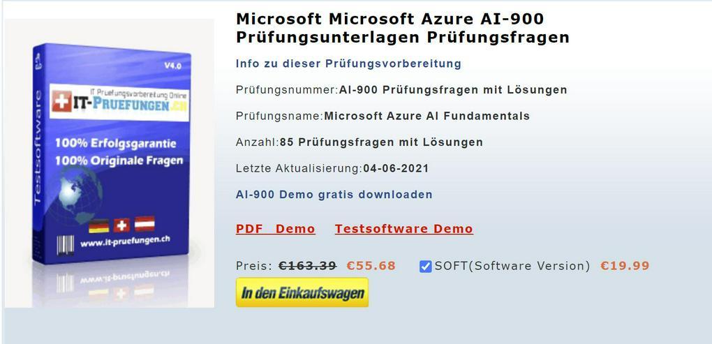 AI-900 Prüfung, AI-900 Zertifizierung