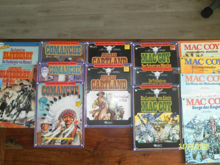 Western Comics , 14 Bände : Leutnant Blueberry, Comanche, MacCoy, Cartland