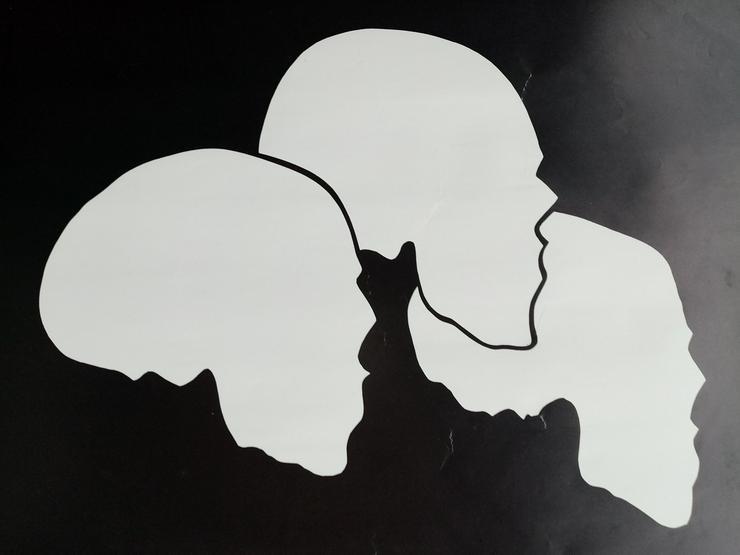 Ausstellungs Plakat 1983 Münster Medizin  Skulls