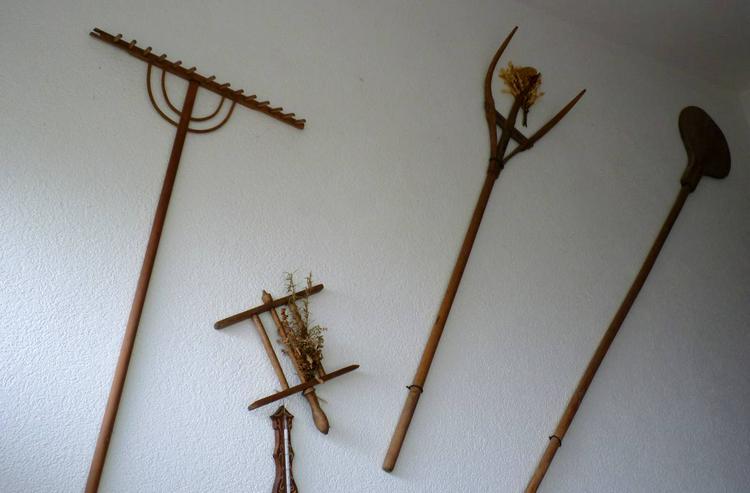 Bauerngerätschaften alle aus Holz