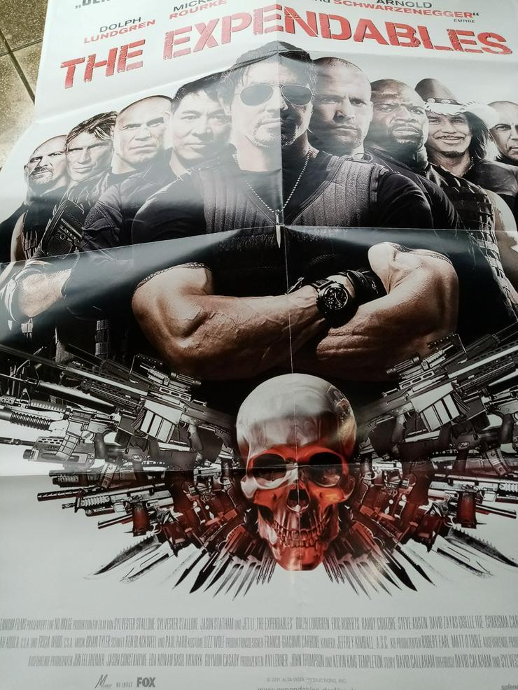 2010 Orginal  Plakat A1  The Expandables  Skull mit Stallone