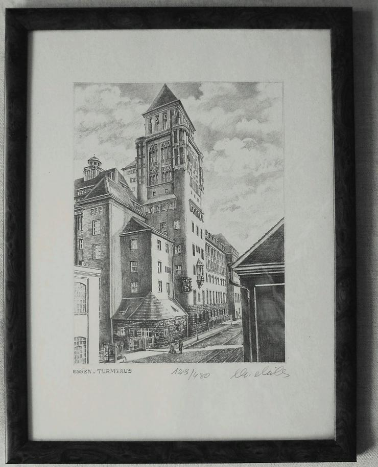 Essen Turmhaus Grafik (B077)