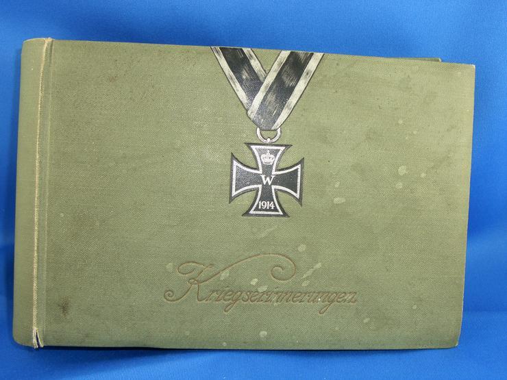 Kriegserinnerungen leeres Album / 1 WK / Soldaten /