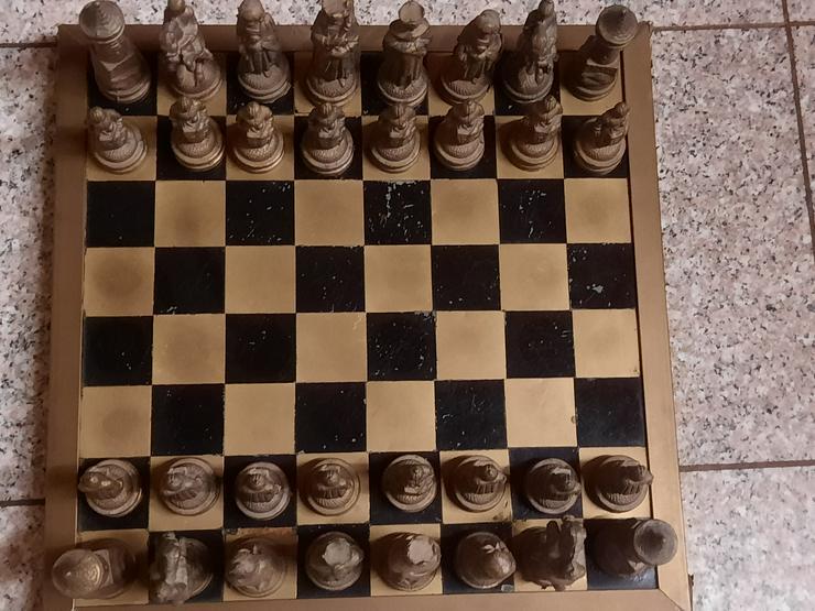 Bild 1: Schachfiguren aus Bronze - RARITÄT