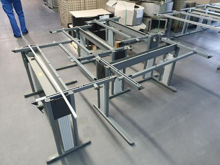Bild 3: Büro Tisch Gestelle, Tischplatten