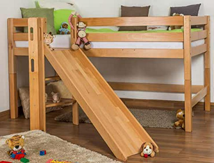 Kinderhochbett mit Rutsche aus Kiefer - Betten - Bild 1