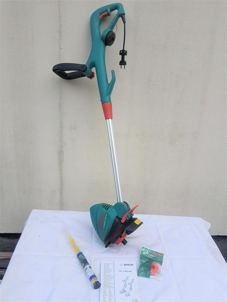 Rasentrimmer Bosch + Gartenhäcksler Atika