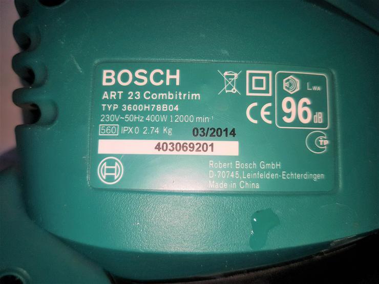 Bild 4: Rasentrimmer Bosch + Gartenhäcksler Atika